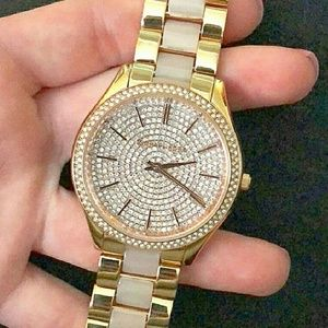 Rose Gold Crystal watch by Michael Kors